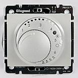 777019 + 775858 - Термостат для управления теплым полом до 16А, с датчиком температуры, Legrand Galea Life (Белый)