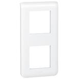 078822 - Рамка Легран Мозаик, 2-постовая на 4 модуля, вертикальная (белая)