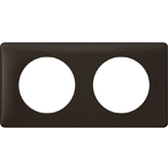 066742 - Рамка 2-постовая Legrand Celiane, прямоугольная, 161х82мм (черная перкаль)