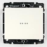 771034 + 775827 - Переключатель одноклавишный, промежуточный с подсветкой Legrand Galea Life, 10А (белый)