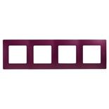 672564 - Рамка 4-х постовая Legrand Etika (сливовый)
