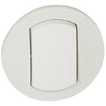 067801 - Лицевая панель выключателя одноклавишного, влагозащищенная (ip44), Legrand Celiane (белая)
