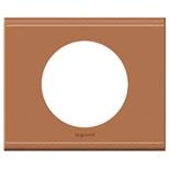 069281 - Рамка однопостовая Legrand Celiane, прямоугольная, 100х82мм, натуральная кожа (крем-карамель)