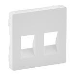 755370 - Лицевая панель для двойной аудиорозетки с пружинными зажимами Legrand Valena Life (белая)