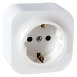 782211 - Розетка электрическая с заземлением Legrand Quteo (белая)