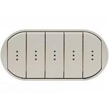 068320 - Лицевая панель для выключателя/переключателя с 5 клавишами и подсветкой, Легран Селиан (титан)
