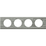 069044 - Рамка 4-постовая Legrand Celiane, прямоугольная, 313х83мм, металл (техно)