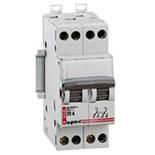 004386 - Модульный переключатель Legrand со средней точкой, 2П, 2 модуля, 400 В~, 20А