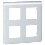 079038 - Рамка Legrand Mosaic, 4-постовая, 8-модульная (алюминий)