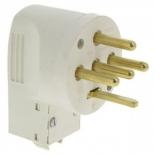 055807 - Вилка силовая 3К+Н+З, 32 А, пластик, выход кабеля сбоку