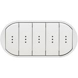 068020 - Лицевая панель для выключателя/переключателя с 5 клавишами и подсветкой, Legrand Celiane (белая)