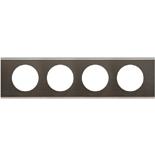 069034 - Рамка 4-постовая Legrand Celiane, прямоугольная, 313х83мм, металл (чёрный никель)