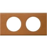 069422 - Рамка 2-постовая Legrand Celiane, прямоугольная, 171х83мм, кожа (карамель)