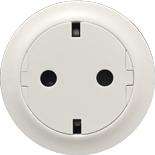 067166 - Механизм розетки электрической с заземлением (2К+З), плоской, с лицевой панелью, безвинтовые зажимы, Legrand Celiane (белый)