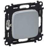 752001 + 755013 - Выключатель простой, автоматические клеммы Legrand Valena Allure (светлая нержавеющая сталь)