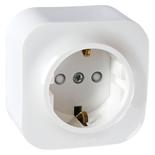 782220 - Розетка электрическая с заземлением и защитными шторками Legrand Quteo (белый)