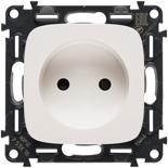 753016 + 754975 - Электрическая розетка без заземления с защитными шторками, автоматические клеммы, Legrand Valena Allure (белая)