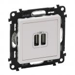 753412 - Розетка USB, зарядное устройство Legrand Valena Life (белая)