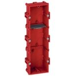 080143 - Монтажная коробка встраиваемая, 3-постовая (1х6/8), 40мм, для кирпичных стен, Legrand Batibox