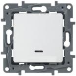 672203 - Выключатель одноклавишный с подсветкой Legrand Etika (белый)