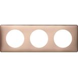 068993 - Рамка 3-постовая Legrand Celiane, прямоугольная, 232х82мм (медь)