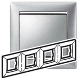 770334 - Рамка 4 поста Легран Валена (Матовый алюминий)