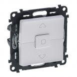 752029 + 755140 - Клавишный выключатель для управления жалюзи/рольставнями Legrand Valena Life (белый)