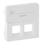 755480 - Лицевая панель для двойных телефонных/информационных розеток с держателем маркировки Legrand Valena Life (белая)