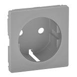 755252 - Лицевая панель для силовой розетки 2К+З с зажимами Legrand Valena Life (алюминий)