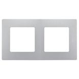 672552 - Рамка 2-х постовая Legrand Etika (алюминий)