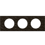 069023 - Рамка 3-постовая Legrand Celiane, прямоугольная, 242х83мм, Corian® (чёрный рифленый)