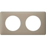 066722 - Рамка 2-постовая Legrand Celiane, прямоугольная, 161х82мм (грэй перкаль)