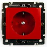 774327 - Розетка электрическая с блокировкой, Legrand Valena (красный)