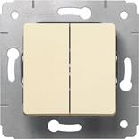 773758 - Выключатель двухклавишный, 10A, Legrand Cariva (слоновая кость)
