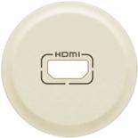 066288 - Лицевая панель для розетки аудио/видео HDMI, Легранд Селиан (слоновая кость)