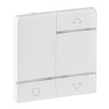 754724 - Лицевая панель для радиоприемного выключателя, для приводов жалюзи/рольставней Legrand Valena Life (белая)