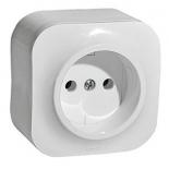 782210 - Розетка электрическая без заземления Legrand Quteo (белая)