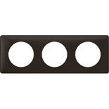 066743 - Рамка 3-постовая Legrand Celiane, прямоугольная, 232х82мм (черная перкаль)