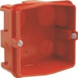 080184 - Монтажная коробка встраиваемая, 1-постовая, 85х85х40мм, для силовых розеток 20/32А, для кирпичных стен, Legrand Batibox