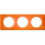 066653 - Рамка 3-постовая Legrand Celiane, прямоугольная, 232х82мм (оранжевый муар)