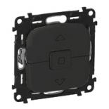 752029 + 755148 - Клавишный выключатель для управления жалюзи/рольставнями Legrand Valena Allure (антрацит)