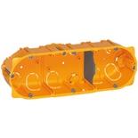 080043 - Монтажная коробка встраиваемая, 3-постовая (1х6/8), 40мм, d=67мм, для сухих перегородок, Legrand Batibox