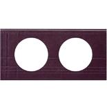 069442 - Рамка 2-постовая Legrand Celiane, прямоугольная, 171х83мм, кожа (пурпур)