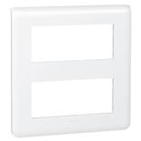 078830 - Рамка Legrand Mosaic, 2-секционная, 10-модульная (белая)