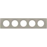 069110 - Рамка 5-постовая Legrand Celiane, прямоугольная, 384х82мм, металл (фактурная сталь)