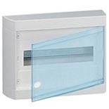 601245 - Щиток распределительный навесной, 1 рейка, 8М, Legrand Nedbox (прозрачная дверь)
