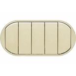 066203 - Лицевая панель для выключателя/переключателя с 5 клавишами, Легранд Селян (слоновая кость)