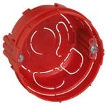 080108 - Монтажная коробка встраиваемая, 1-постовая, 40мм, d=67мм, круглая, для кирпичных стен, Legrand Batibox