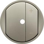 068375 - Лицевая панель светорегулятора (диммера) с подсветкой, Legrand Celiane, титан