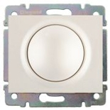 771568 + 775654 - Светорегулятор (диммер) поворотный, 400 Вт, Legrand Galea Life (жемчуг)
